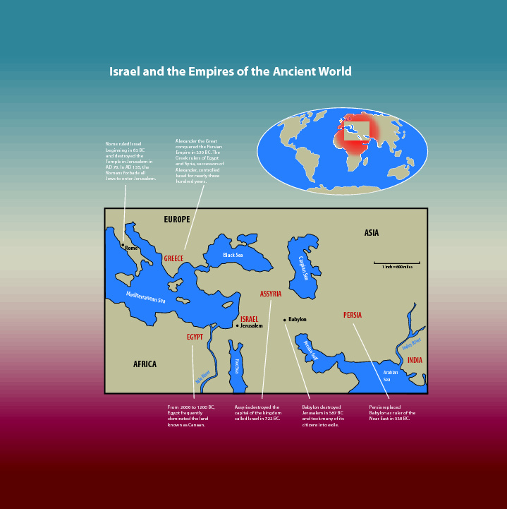 Map of israel and the empires of the ancient world saint marys press map of israel and the empires of the ancient world gumiabroncs Images