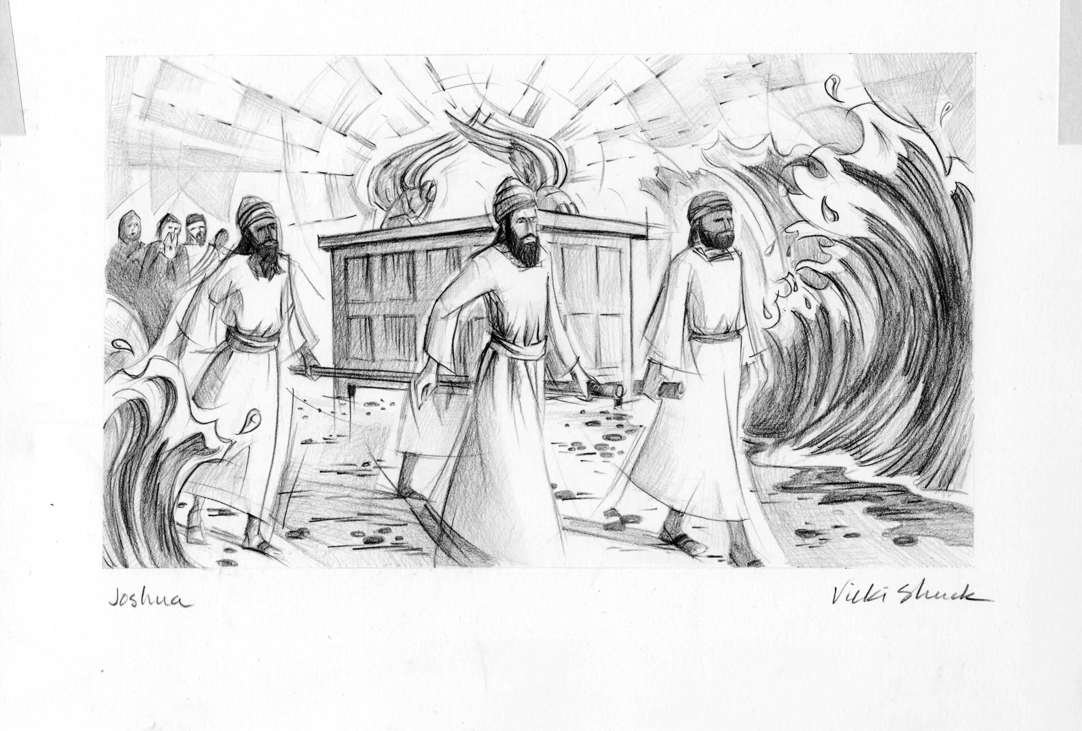 joshua 3 14 illustration ark of the covenant saint mary u0027s press
