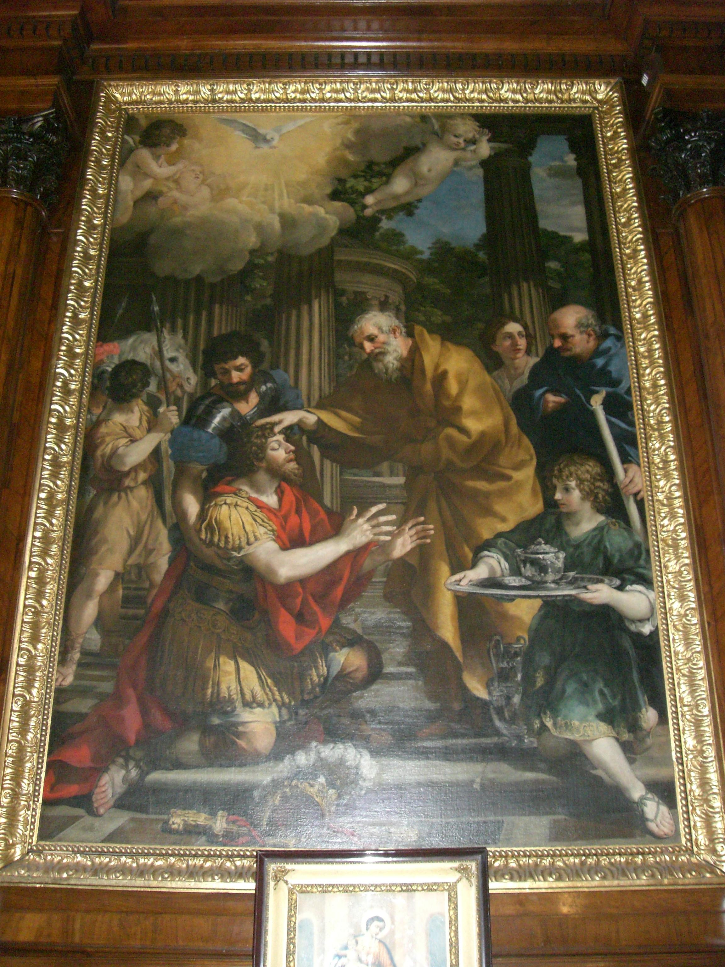 painting of saint peter healing cornelius  acts 9 32