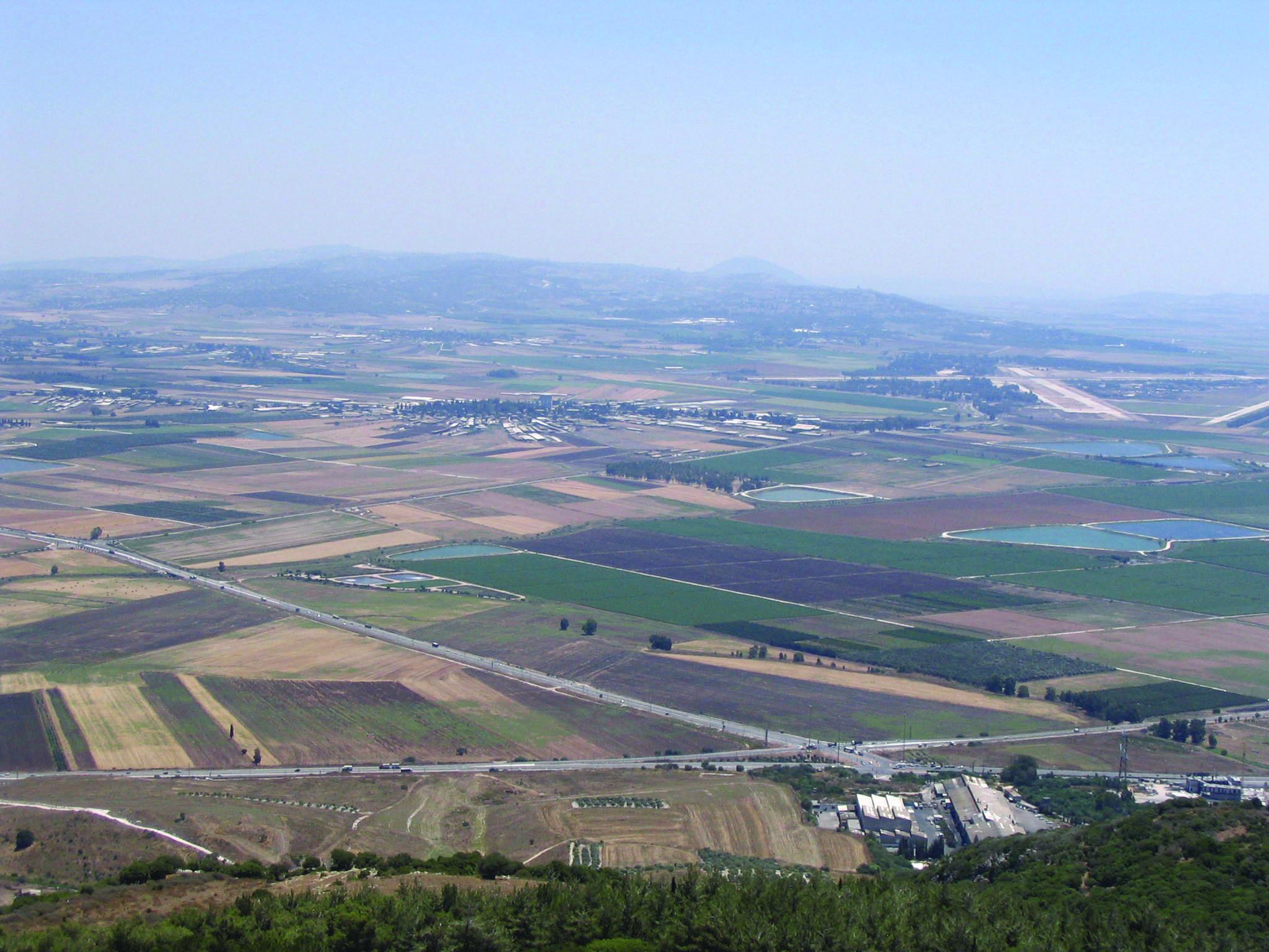 jezreel valley in lower galilee region of israel