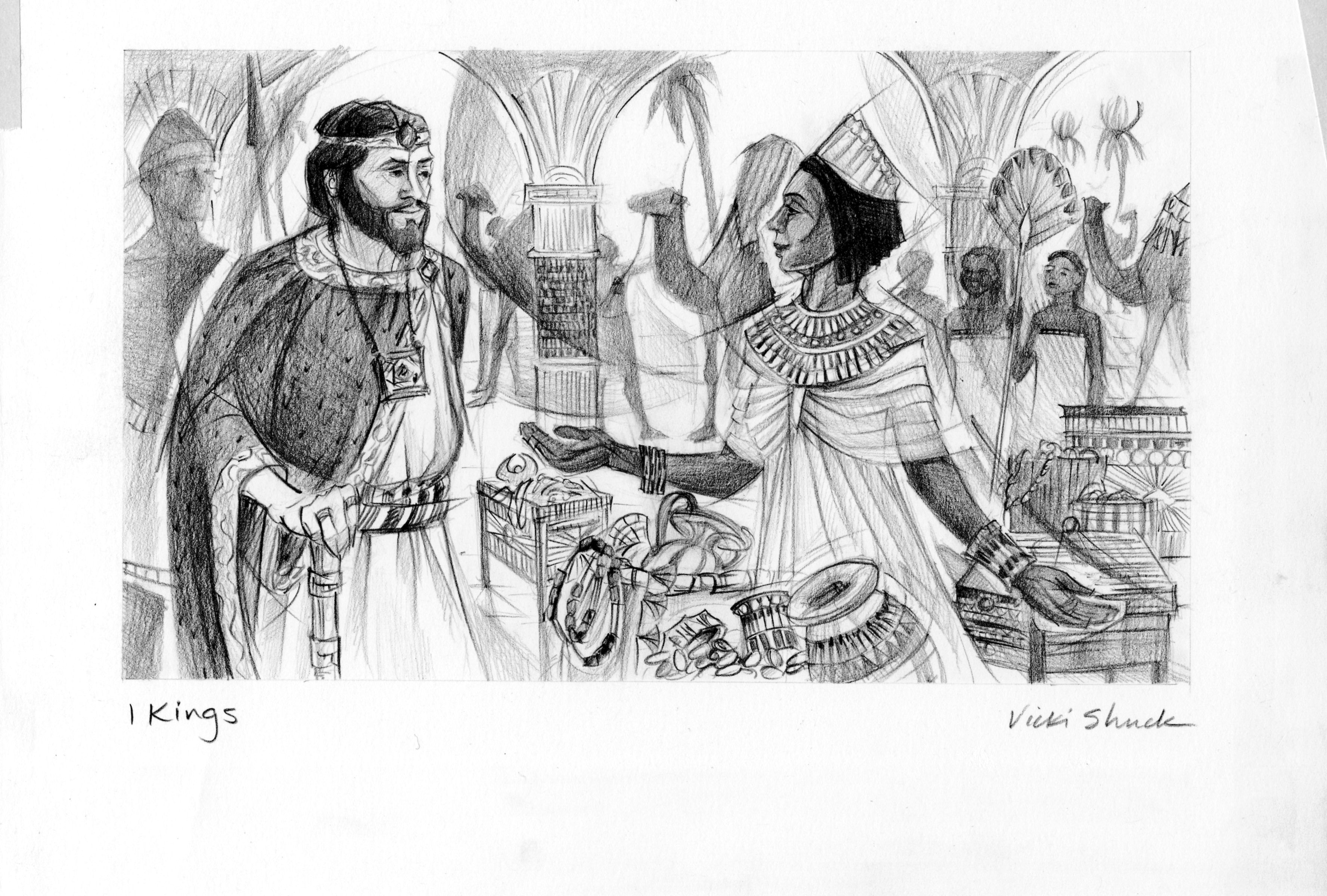 Calendar Illustration Questions : Kings illustration queen of sheba saint mary s press