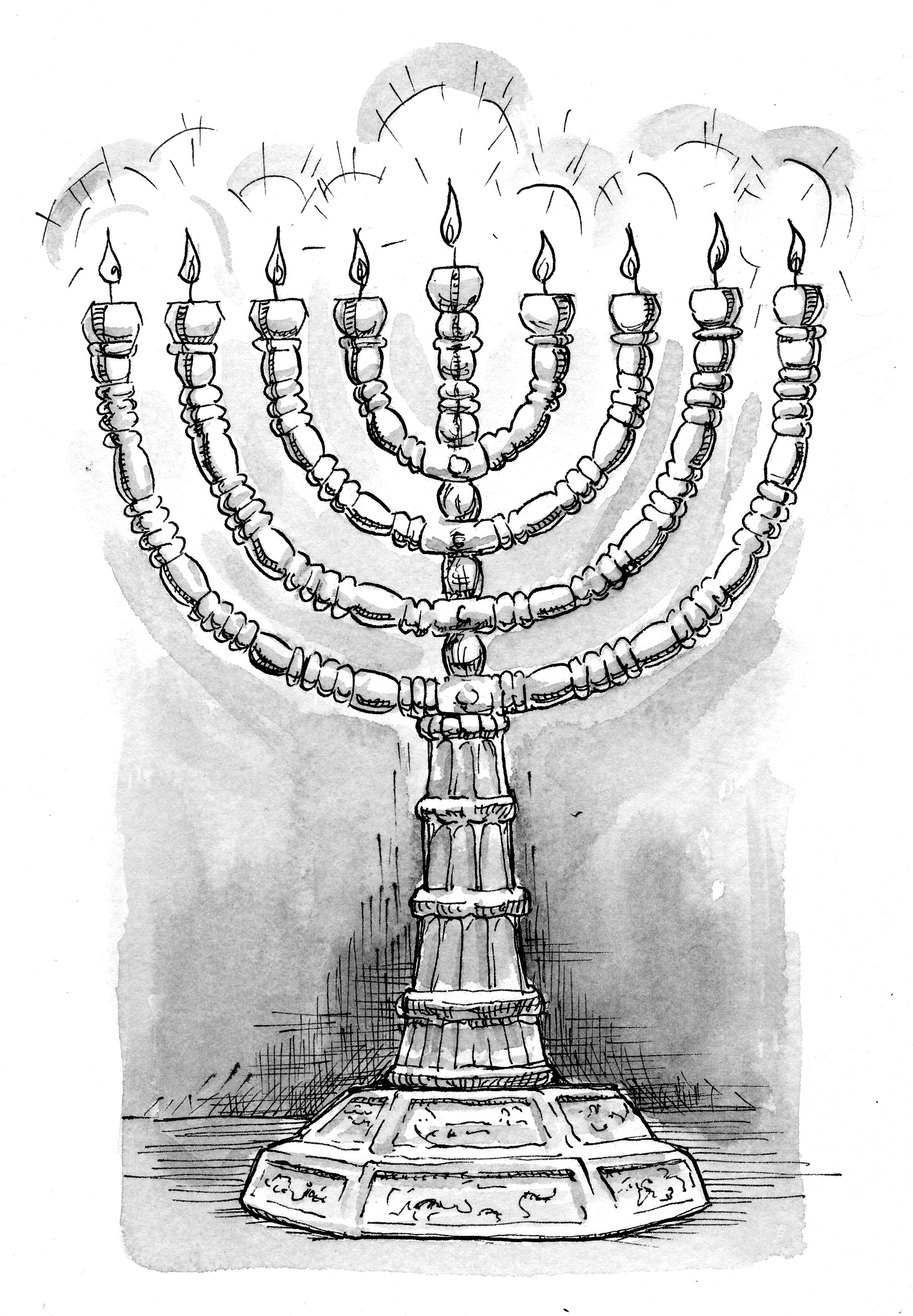 printable coloring pages maccabees | 2 Maccabees 10:3-6 Illustration - Menorah | Saint Mary's Press