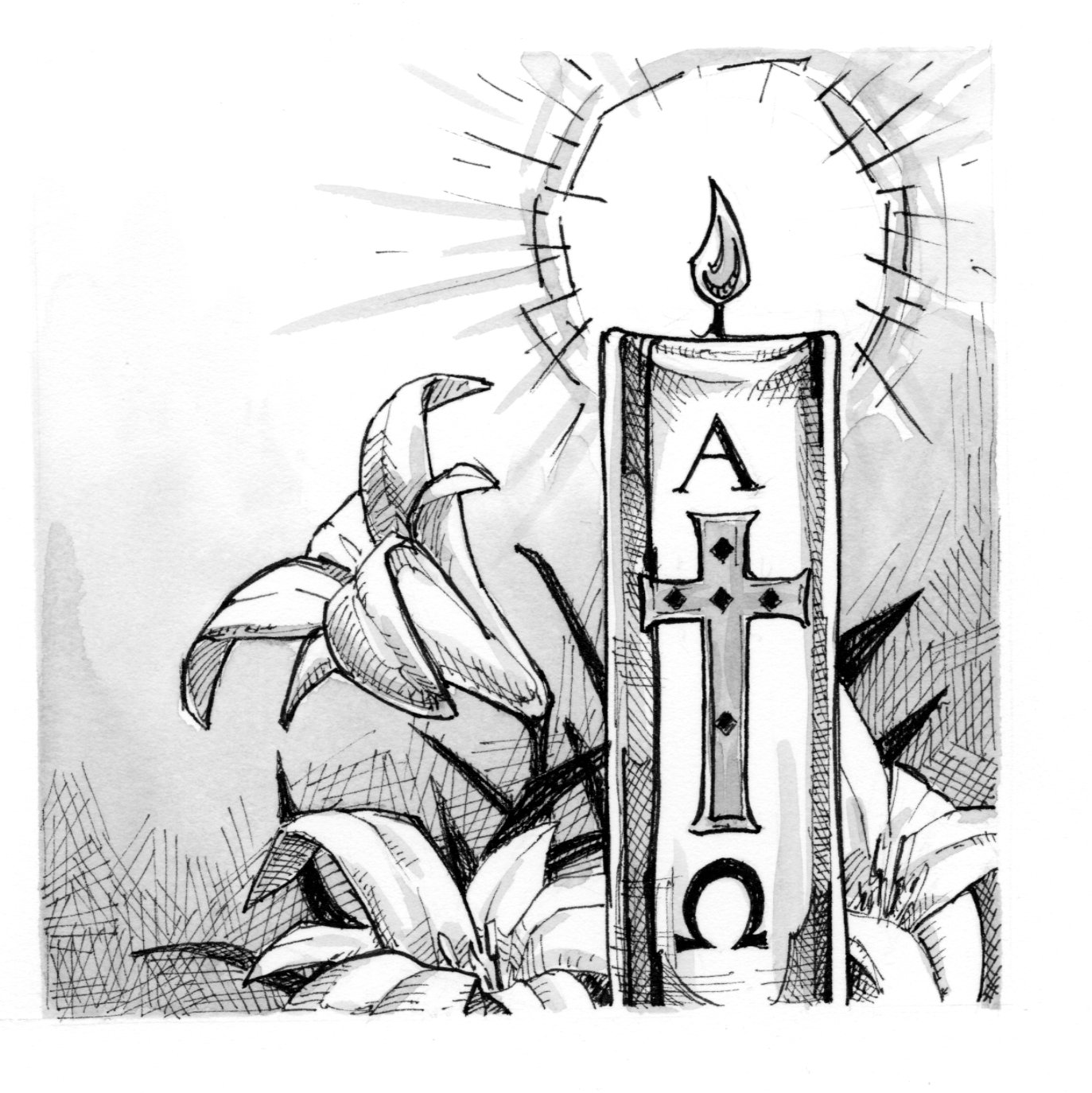 Signs And Symbols Paschal Candle Saint Mary Press