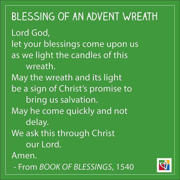 Blessing Of An Advent Wreath Saint Mary S Press