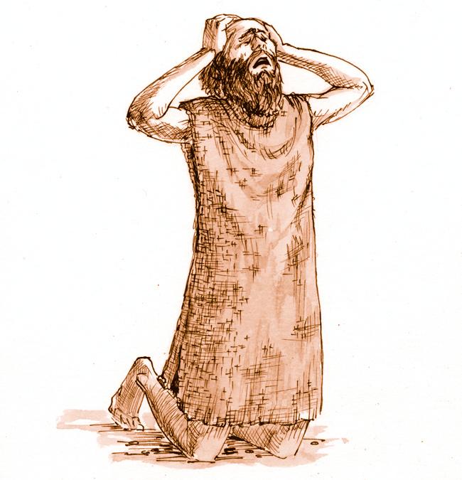 Calendar Illustration Job : Lamentations illustration sackcloth saint mary s