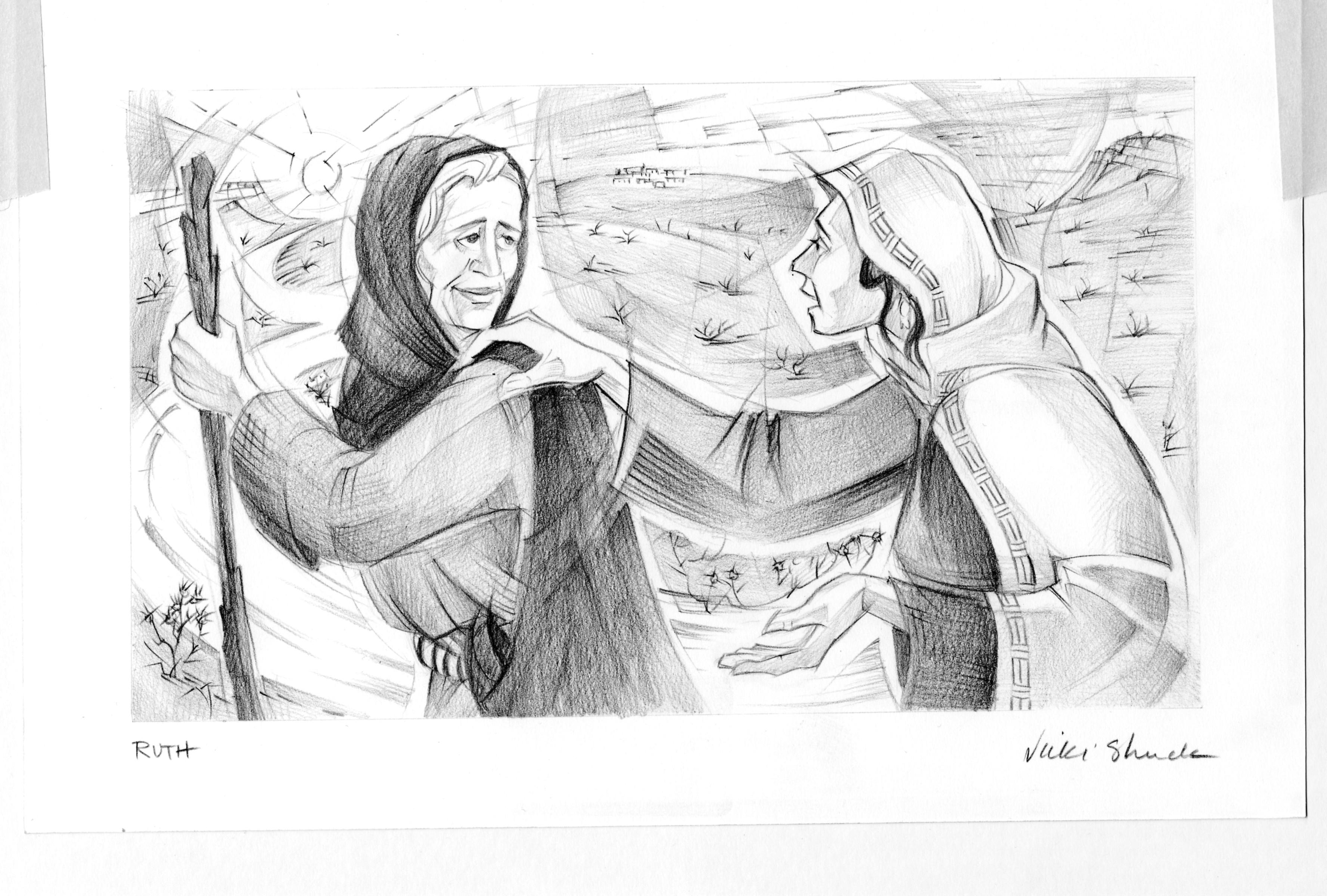 ruth 1 illustration ruth and naomi saint mary u0027s press