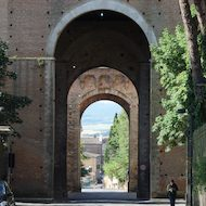 Ancient City Gate of Siena, Italy