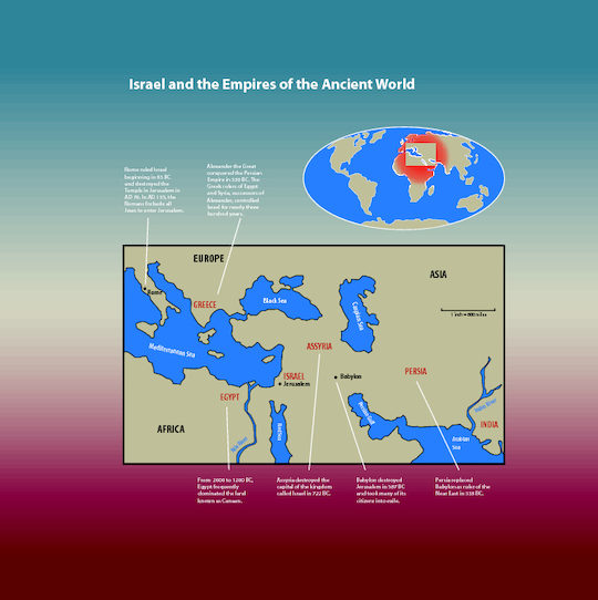 Map of israel and the empires of the ancient world saint marys press map of israel and the empires of the ancient world gumiabroncs Image collections