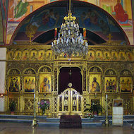 Interior of an Orthodox Church in Jerusalem