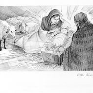 Luke 2:6-7 Illustration - Nativity