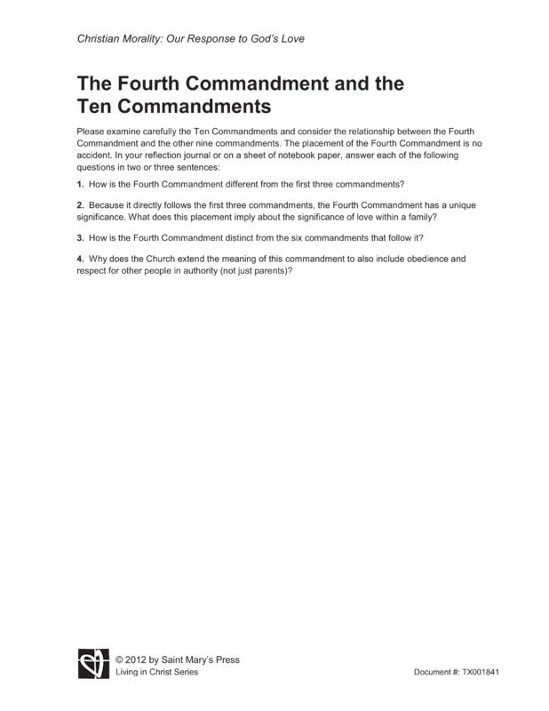the significance of the fourth commandment for christians