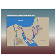Map of the Israelite Journey: Out of the Wilderness, Into the Promised Land