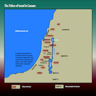 Map of the Tribes of Israel
