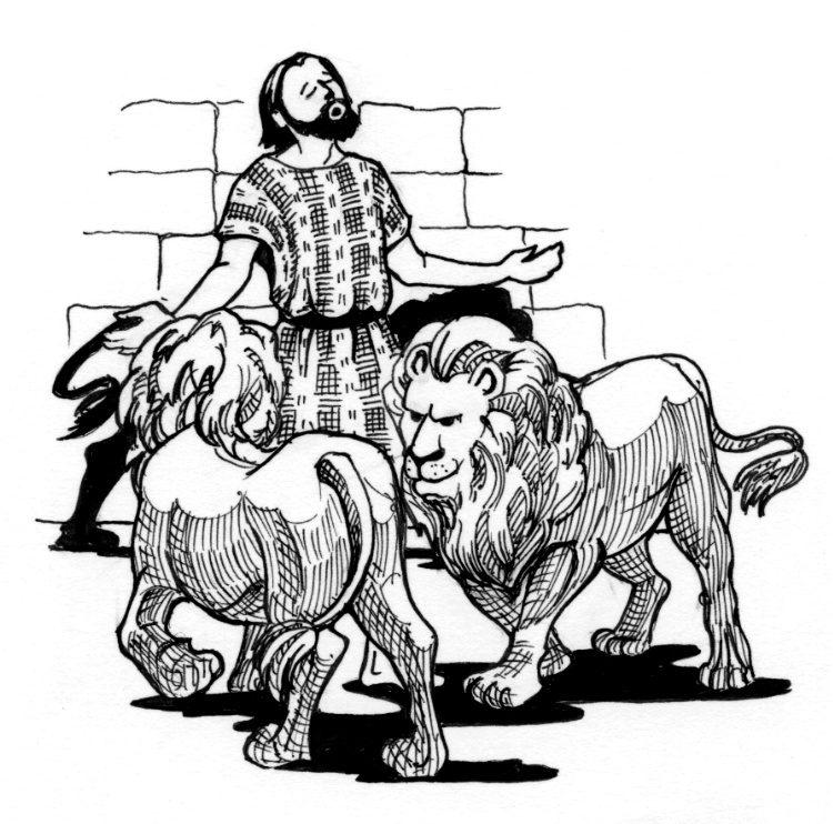 Daniel And The Lions Den Clipart Daniel in the lion's den