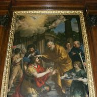 Painting of Saint Peter healing Cornelius: Acts 9:32-10:48
