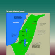Map of the Empire of David and Solomon
