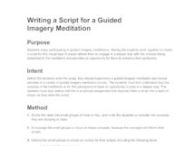 guided imagery essay I chose to take a closer look at some studies of guided imagery and its effect on children i chose this topic because i am curious to know more about this therapeutic modality, as i do not have extensive experience with it i chose children as my population because i have experience counseling kids .