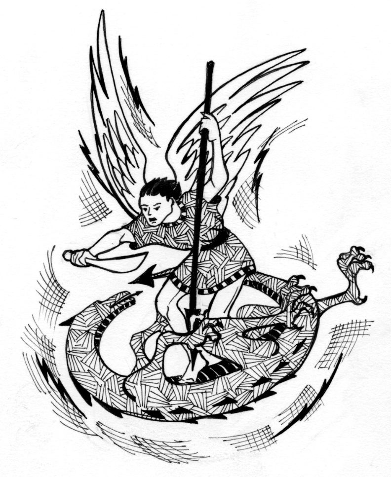 St michael the archangel coloring page sketch coloring page for St michael coloring page