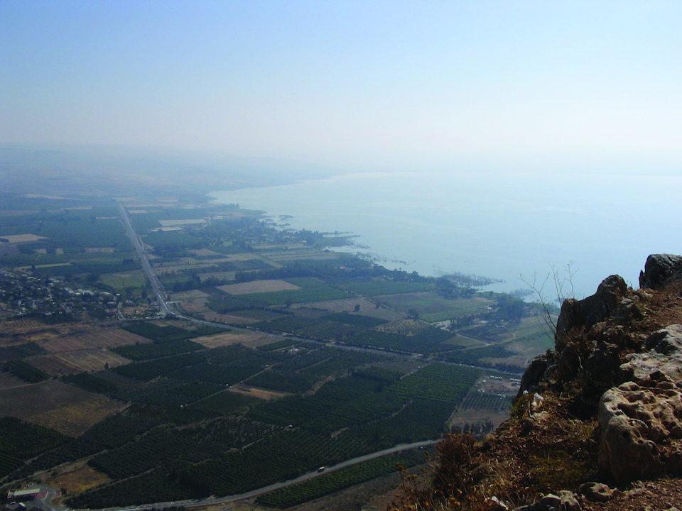 overlooking magdala  israel