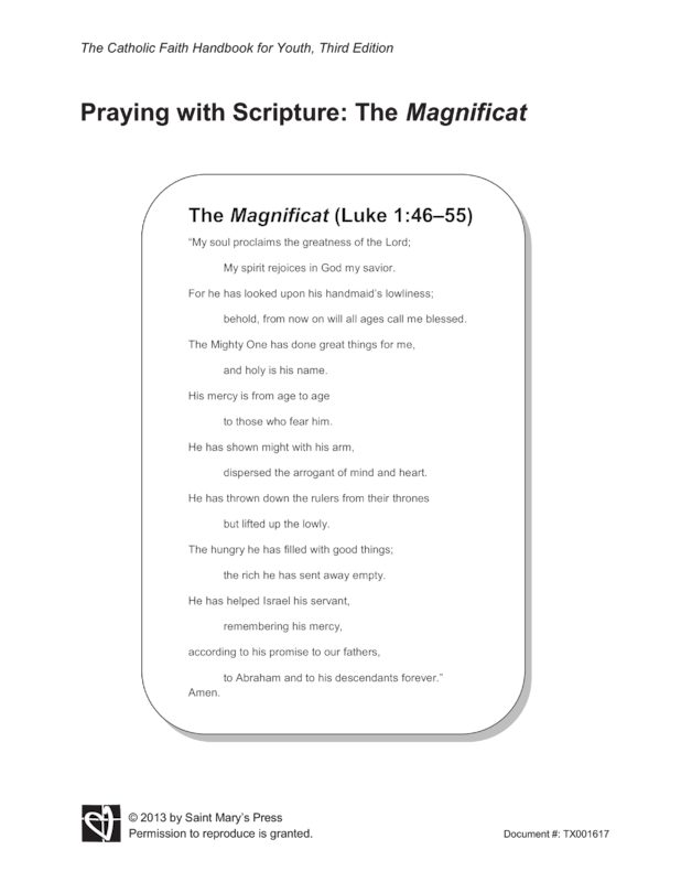 Praying with Scripture The Magnificat | Saint Mary's Press