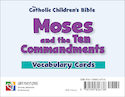 Moses and the Ten Commandments Vocabulary Cards