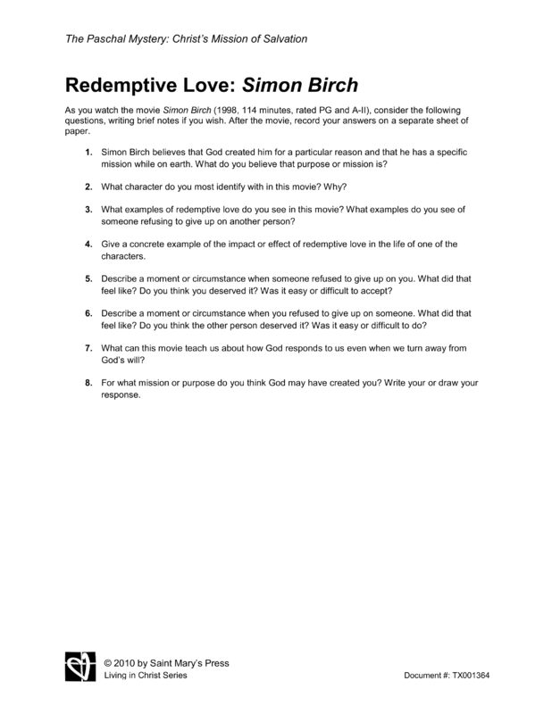simon birch movie essay Scarlet ibis vs simon birch essays: over 180,000 scarlet ibis vs simon birch essays, scarlet ibis vs simon birch term papers, scarlet ibis vs simon birch research.