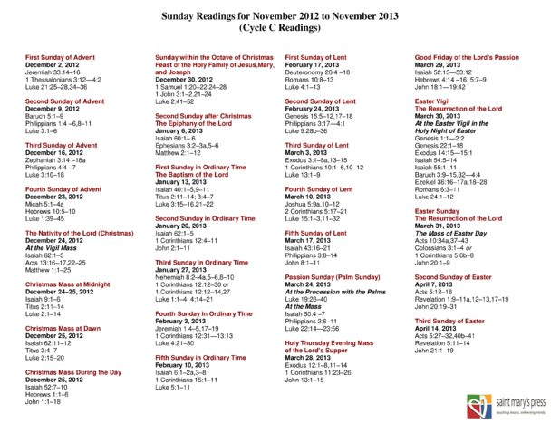 "... for ""Liturgical Year Calendar To Printable"" – Calendar 2015"