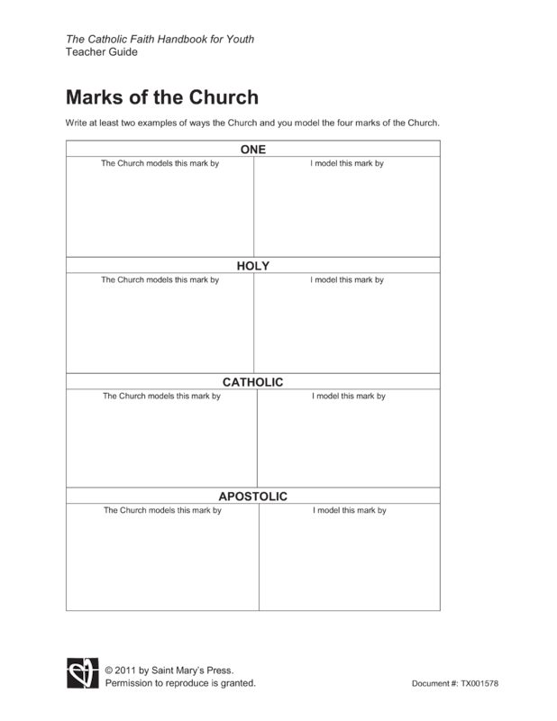 the four marks of the church essay Historical foundations of christianity the life of jesus is best described in the four gospels of matthew, mark his scriptural essays on genesis and psalms.