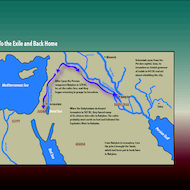Map of the Exile to Babylon and Back to Jerusalem