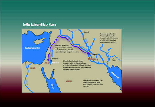 Map of the exile to babylon and back to jerusalem saint marys press map of the exile to babylon and back to jerusalem gumiabroncs Images