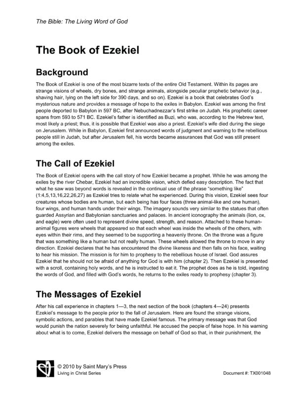 a review of the book of ezekiel in the bible