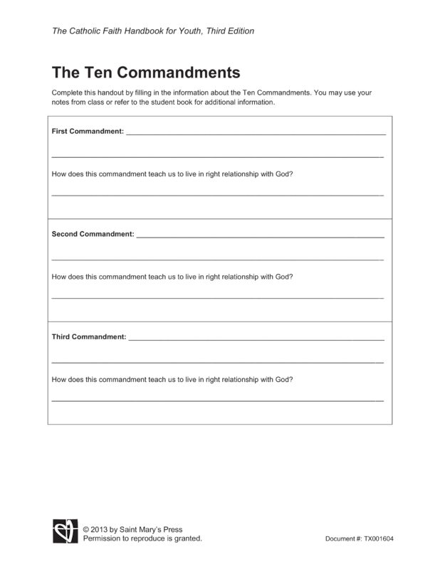 The Ten Commandments | Saint Mary's Press
