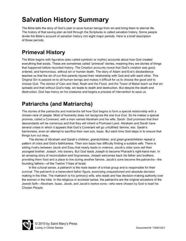 Salvation history essay