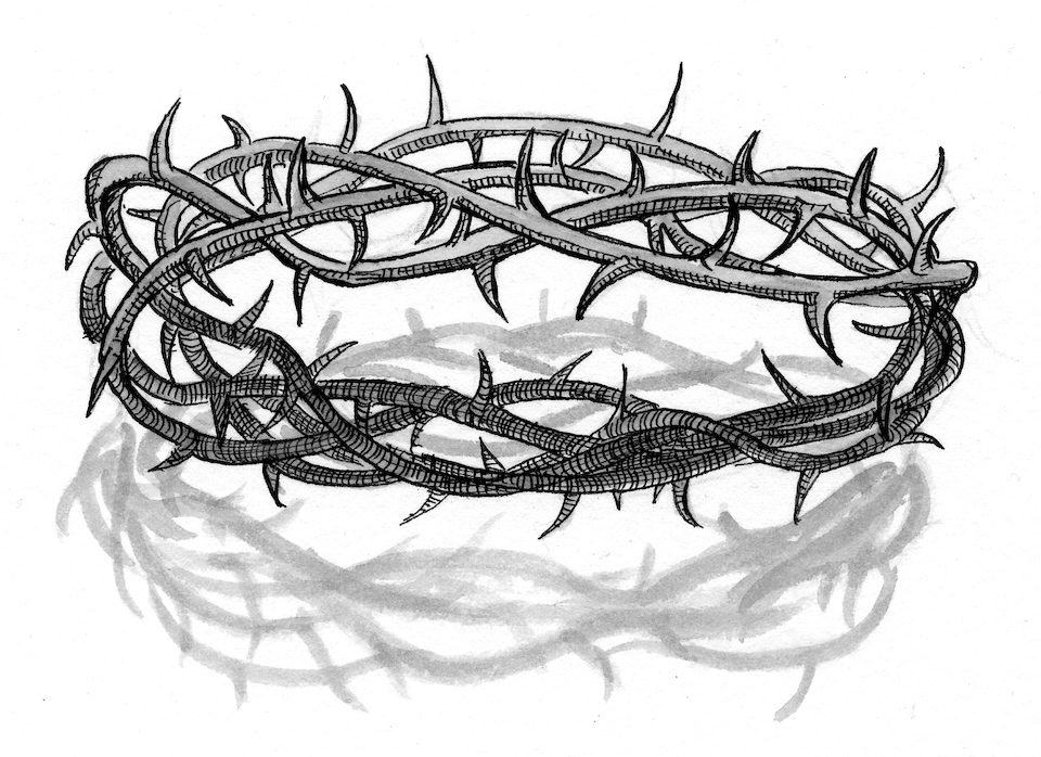 Gallery Of Crown Thorns Jesus Drawing