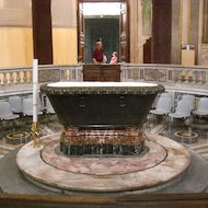 San Giovanni in Fonte (Lateran Baptistry) in Rome, Italy
