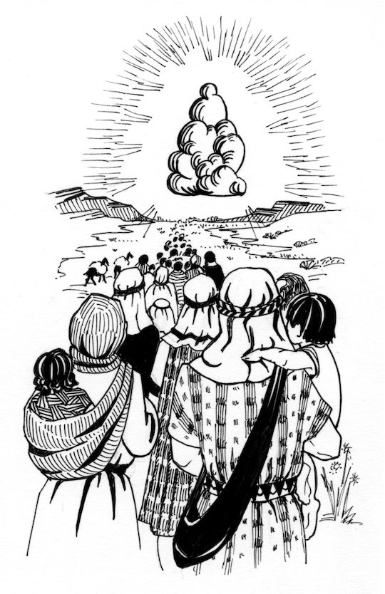 Pillar Of Cloud By Day Coloring Page