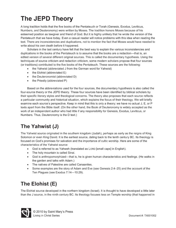 a comparison of the stories of the yahwist and the elohist Jahvist, elohist, jehovist, the later collections the collecting of legends began even in the state of oral tradition in the preceding pages (see p 79 ff) we have shown how individual stories first attracted one another and greater complexes of legends were formed.