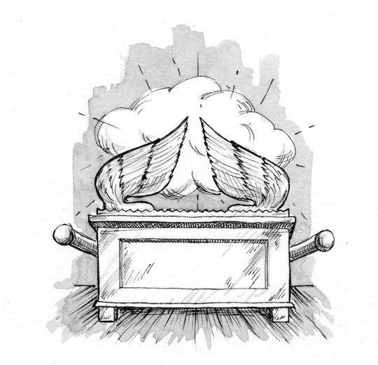 Exodus 37 1 9 illustration the ark of the covenant for Ark of the covenant coloring page
