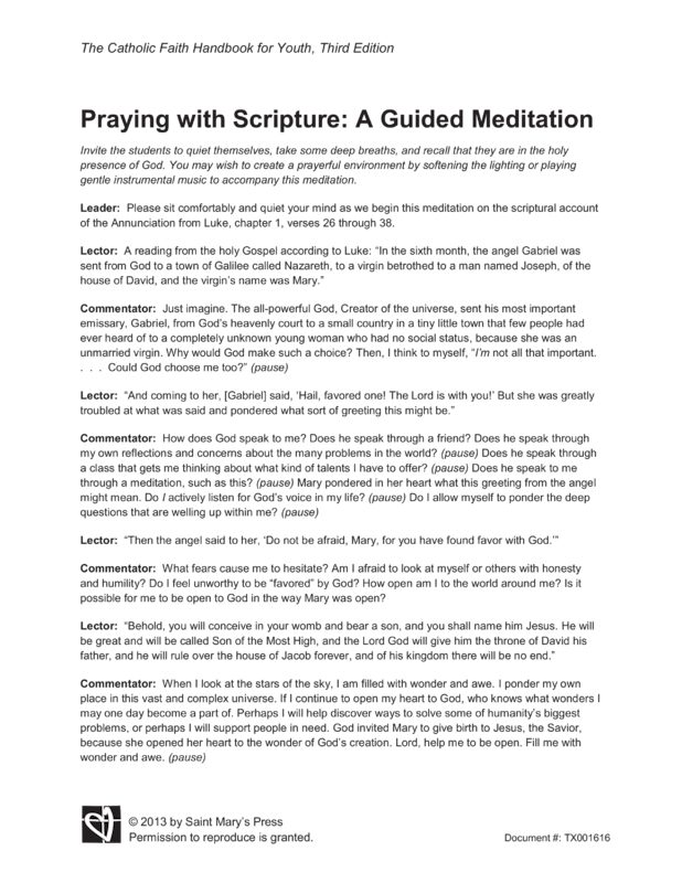 Praying with Scripture A Guided Meditation | Saint Mary's Press