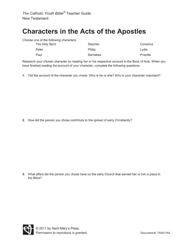 acts of the apostles summary pdf
