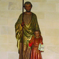 Statue of Joseph and Jesus