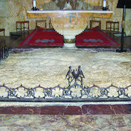 Church of All Nations in Jerusalem, Israel - Bedrock Altar
