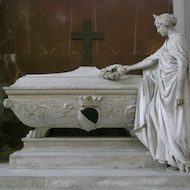 Tomb of Gino Capponi in the Basilica di Santa Croce in Florence, Italy