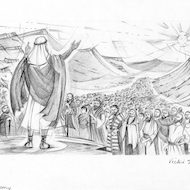 Deuteronomy 1:1 Illustration - Moses and the People