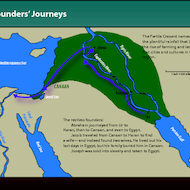 Map of the Journeys of Abraham, Jacob and Joseph -  The Founders