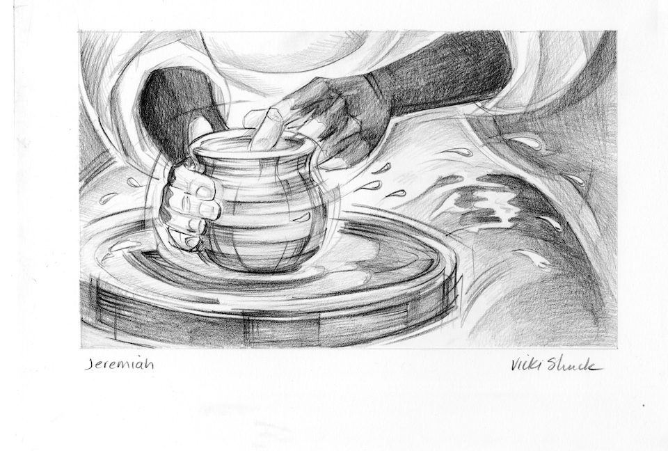 Calendar Illustration Questions : Jeremiah illustration potter s wheel saint mary
