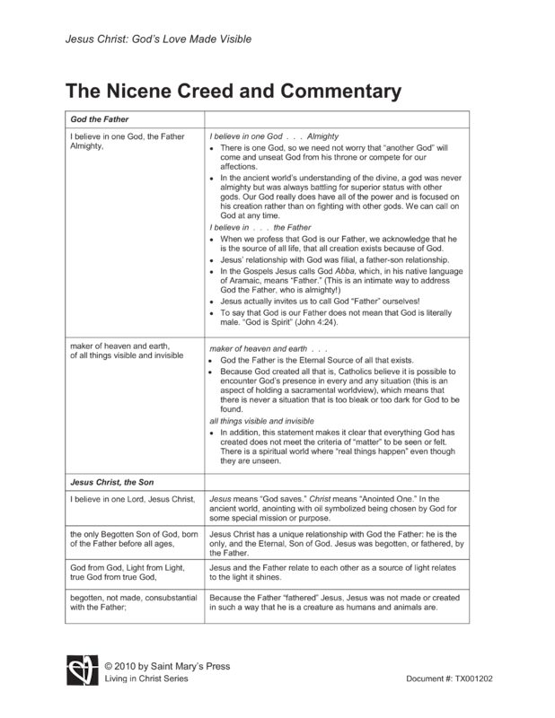 The Nicene Creed and Commentary : Saint Maryu0026#39;s Press