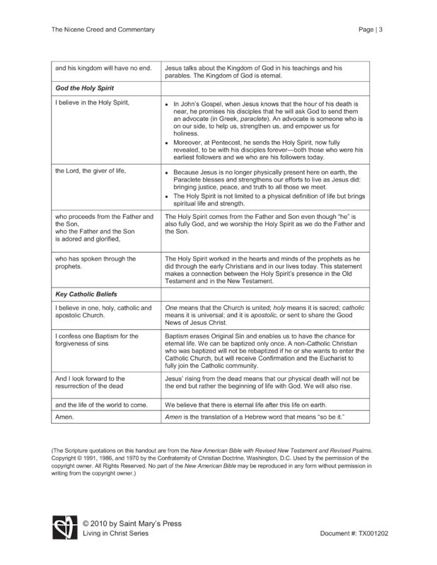 essay on the nicene creed