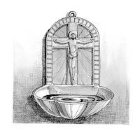 Signs and Symbols: Holy Water Fount