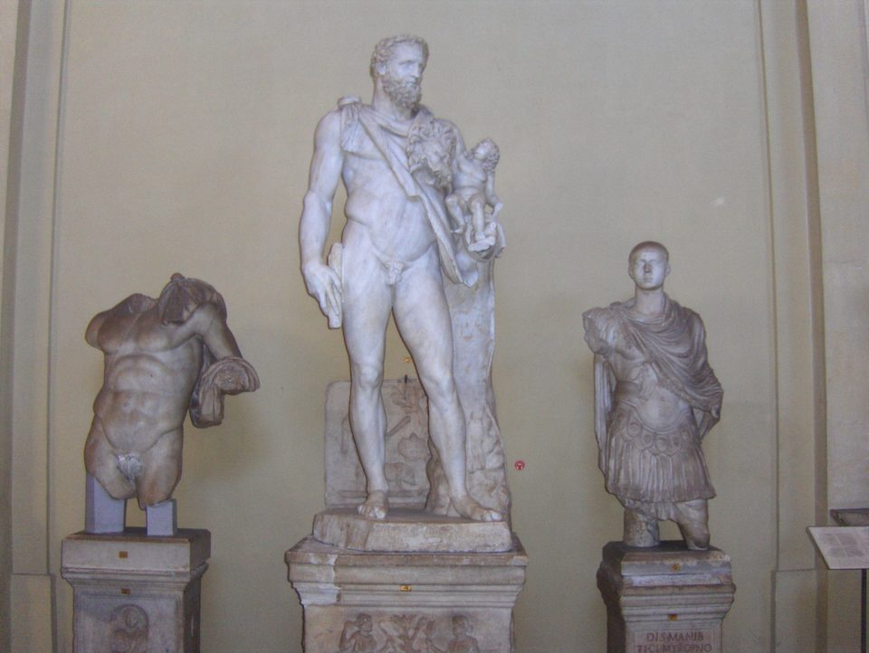 Vatican Museum - Statues: Unknown Bust, Heracles and ...